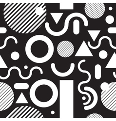 Fashion seamless pattern black and white vector