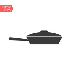 Frying pan icon in trendy flat style isolated on vector