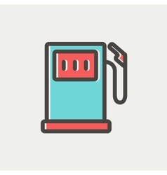 Gas pump thin line icon vector image
