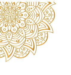 Golden mandala isolated on white background vector