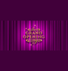Grand opening logo vector
