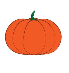 Halloween isolated pumpkin in autumn dall vector