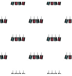 Hanging sale tags pattern flat vector