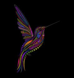 hummingbird in entangle style vector image
