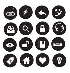 icons black and white icons online store icon vector image