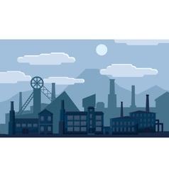 Industrial factory building concept vector image