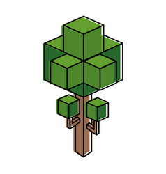 Isometric tree design vector