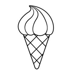 lemon ice cream icon outline line style vector image