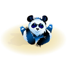 lying cute panda vector image