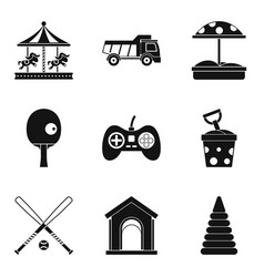Maturation icons set simple style vector