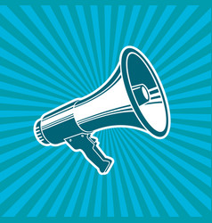 Megaphone loudspeaker bullhorn microphone vect vector