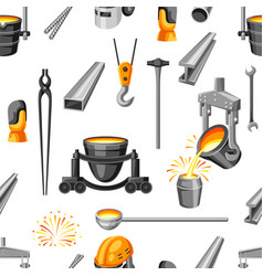 Metallurgical seamless pattern vector
