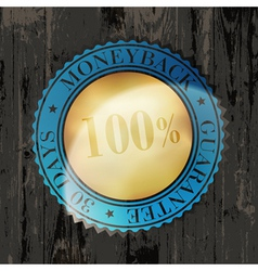 Moneyback sign vintage vector