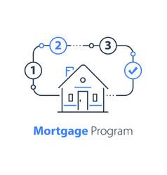 Mortgage loan house insurance vector