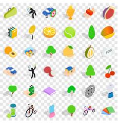 Needed icons set isometric style vector