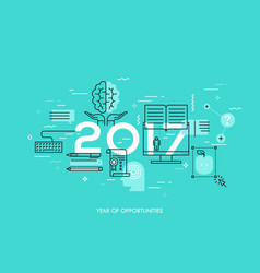 new prospects and predictions in internet courses vector image