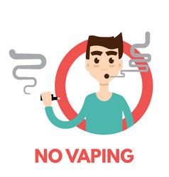 no vaping icon vector image