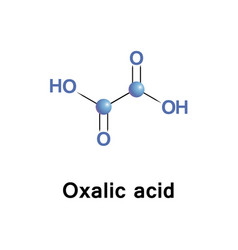 Oxalic acid oxalate vector