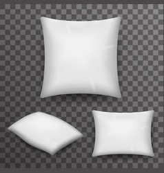 Pillow realistic 3d poster transparent background vector