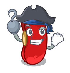 Pirate character red beans for cooking ingredients vector