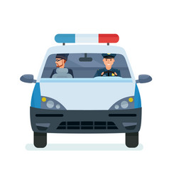 police officer taking thief to police station vector image