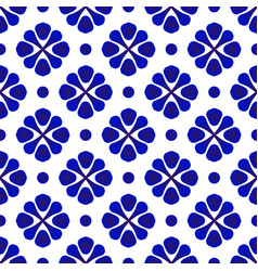 Porcelain pattern decor vector