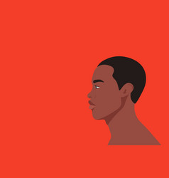 portrait young afro black man on red background vector image