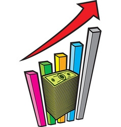 Positive Business Graph vector