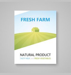 poster advertising booklet for farm company vector image