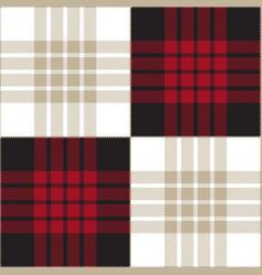 red black white tartan plaid seamless pattern vector image