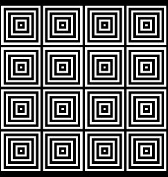seamless black and white square pattern des vector image