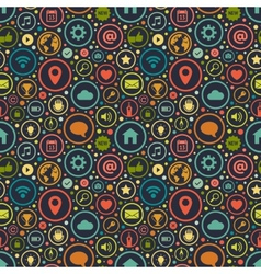 Seamless pattern with icons on various themes vector image