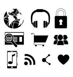set of colorful social network icons vector image