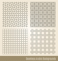Set of Seamless Islamic backgrounds vector