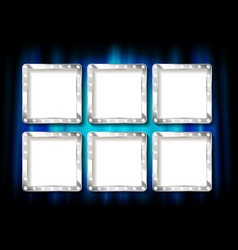 set silver picture frames vector image