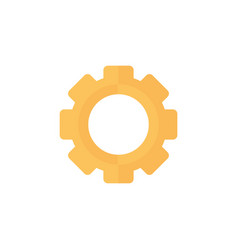 Setting gear work isolated icon vector