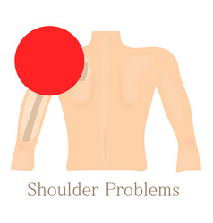 shoulder problem icon cartoon style vector image
