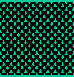 simple repeating stylized pine tree pattern vector image