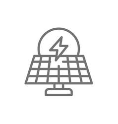 solar power station alternative renewable energy vector image