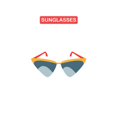 sunglasses icon or sign vector image