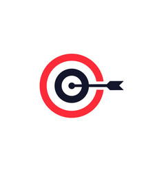 target icon with letter c logo design vector image