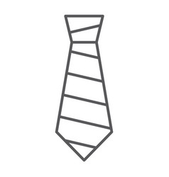 Tie thin line icon clothing and formal necktie vector