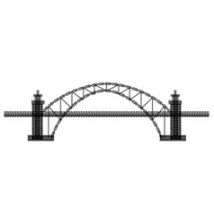Tire track bridge vector