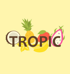 tropical fruit design for t-shirt vector image