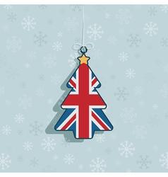 uk christmas decoration vector image