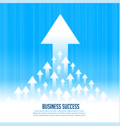 Upward rising leading arrows for business growth vector