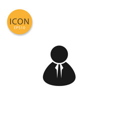 user icon isolated flat style vector image