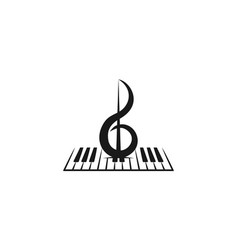 violin piano instrument musical logo designs vector image