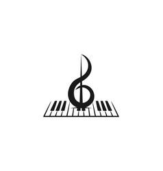 Violin piano instrument musical logo designs vector