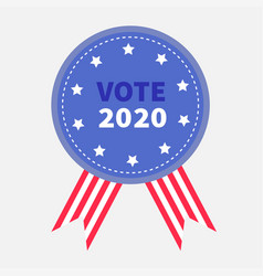 vote 2020 president election day blue badge vector image